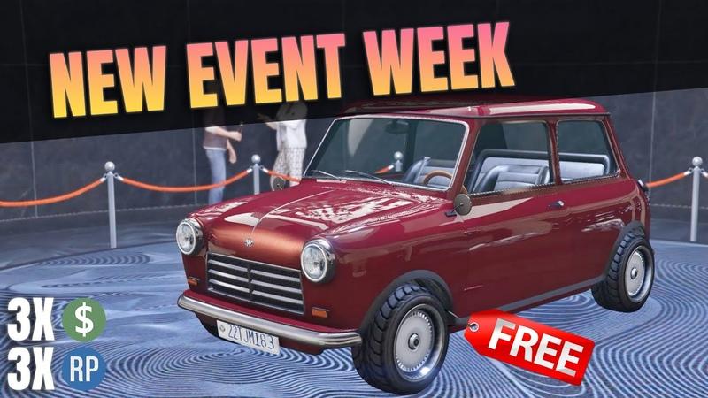 GTA 5 Online TRIPLE MONEY RP EVENT WEEK CASH BONUS MASSIVE DISCOUNT FREE CAR Issi Classic