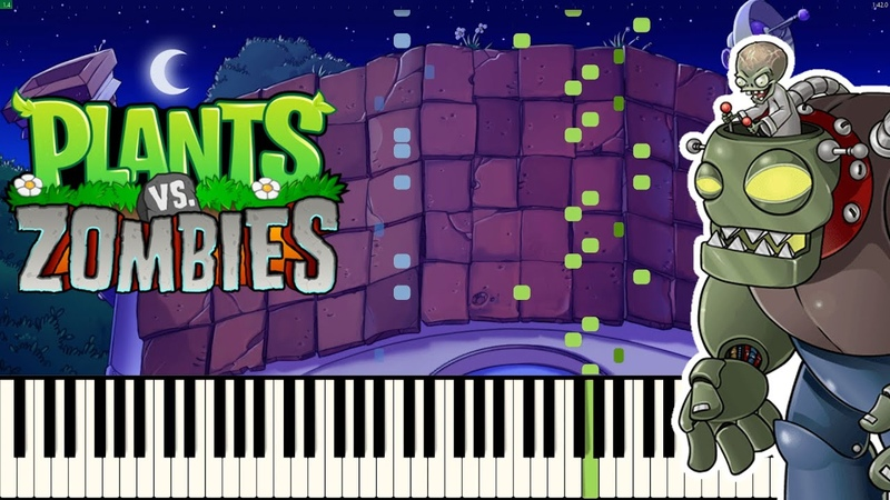 Braniac Maniac Dr Edgar Zomboss Theme Plants vs Zombies PIANO COVER Synthesia Arr