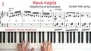 HAVA NAGILA ХАВА НАГИЛА пианино НОТЫ EASY SHEET MUSIC SHEETS Score PIANO TUTORIAL ISRAELI FOLK SONG
