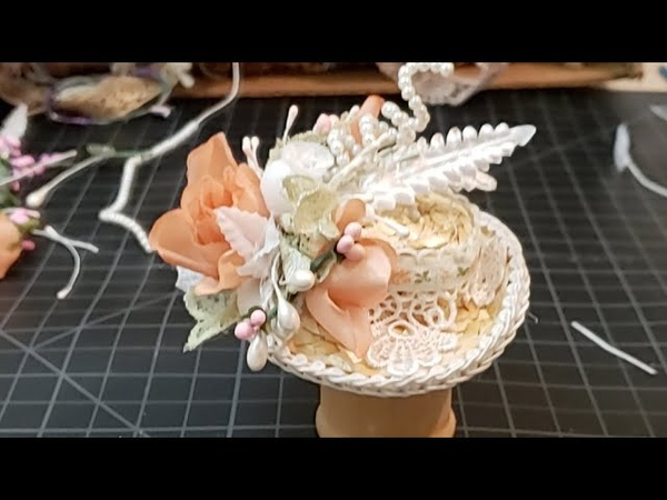 Peach Easter Hat Diy Tutorial How To Make Shabby Chic