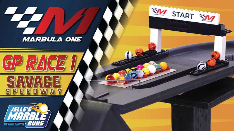 Marbula One 2020 Savage Speedway GP S1R1 Marble Race by Jelle's Marble Runs