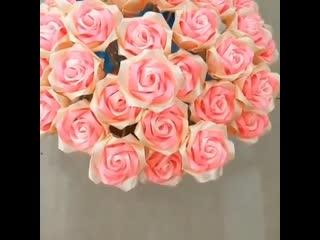 роза из лент ()