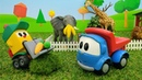 Video e giochi per bambini. Il camioncino Leo va allo zoo. Giocattoli educativi