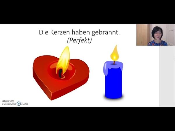 Perfekt 6: Unregelmäßige Verben: brechen, brennen, bringen, denken