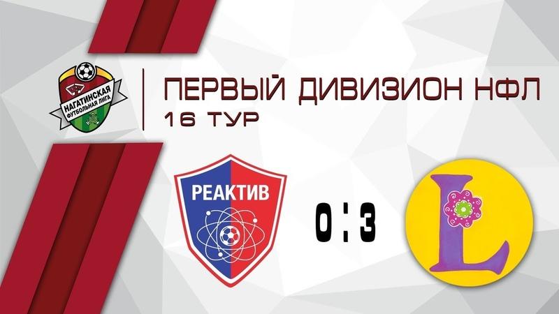 Реактив 0 3 Либерти Мск Первый Дивизион 16 тур Обзор матча