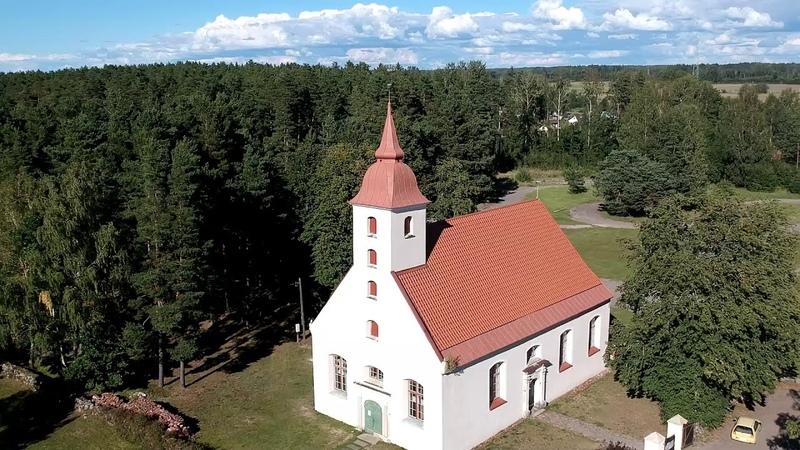 DJI Spark Skulte Evangelic Lutheran evaņģēliski luteriskā baznīca Скулте