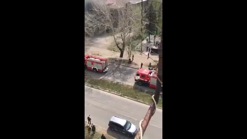 Пожар Центр Культуры в Славянске - 26.04.2020