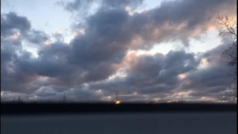 страшно красивые степногорские облака