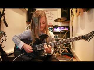 10 year old guitarist plays Canon, Rock version by Johann Pachelbel