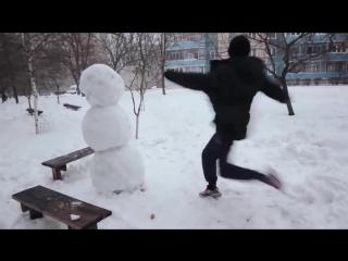 Как отпздить снеговика!!! Ахаха! Смешные видео 2016! Короткие видео приколы 2016! Юмор! Угар! Ржач!