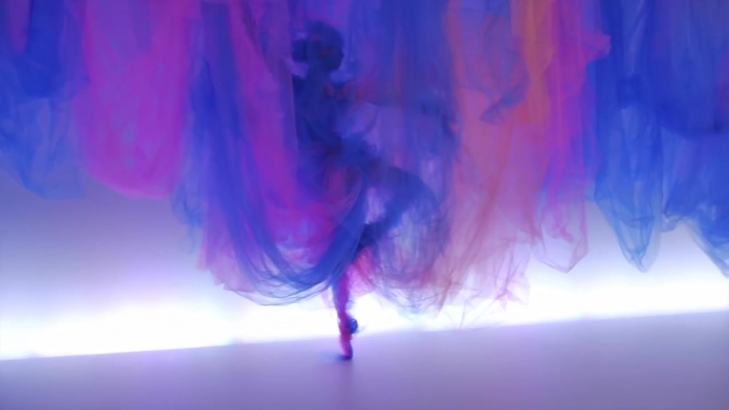 Tulle Installation The Dance by Benjamin Shine