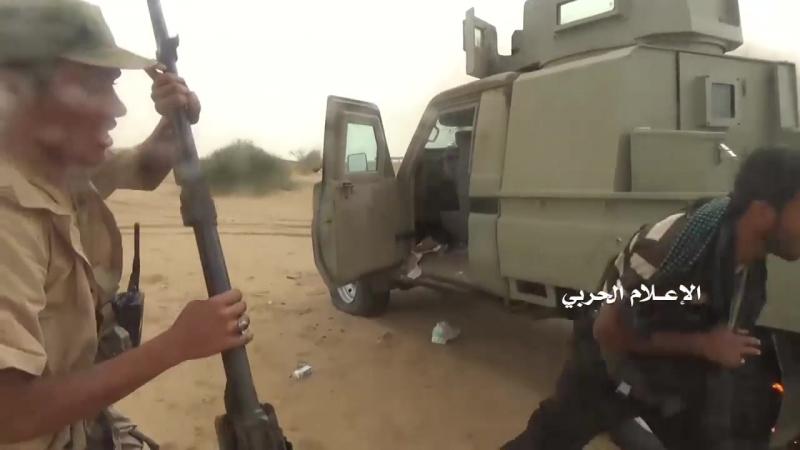 Брошенная техника саудитов и хадистов в районе Хайран, Хаджа.