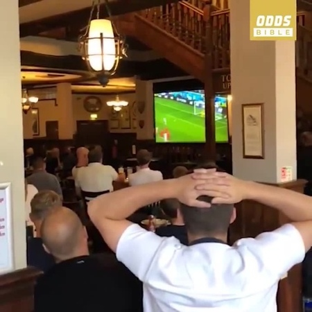 Man's so drunk that he think England are playing in white