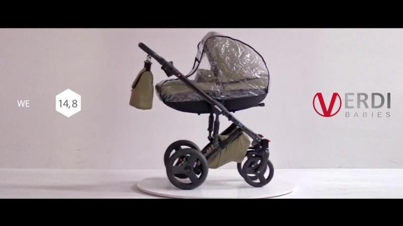 Видеообзор на Детскую коляска Verdi Mirage 2 в 1