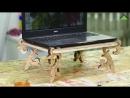 Леруа Мерлен Казахстан мастер классы қазақ ою өрнегі бар ноутбуктың астына қоятын тіреуішті жасаймыз