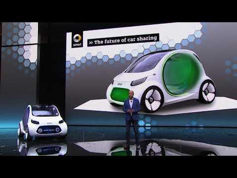Mercedes-Benz Media Night auf der IAA 2017 - Präsentation smart vision EQ fortwo