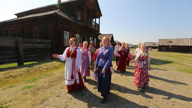 Коллектив Забава в этнографическом музее Шушенского