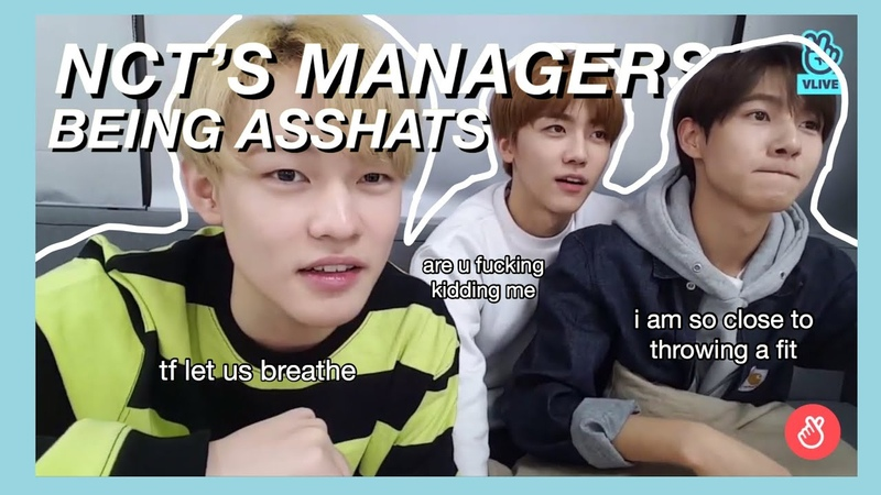Nct's managers being asshats for 3 minutes straight