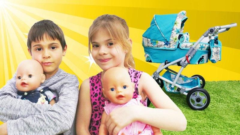 Elis ve Mikail bebek arabası alıyorlar. Evcilik oyunu