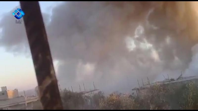 Тяжелая российская ракета поразила объект группировки Джаши Аль Эзза в городе Аль Латамна в северной Хама