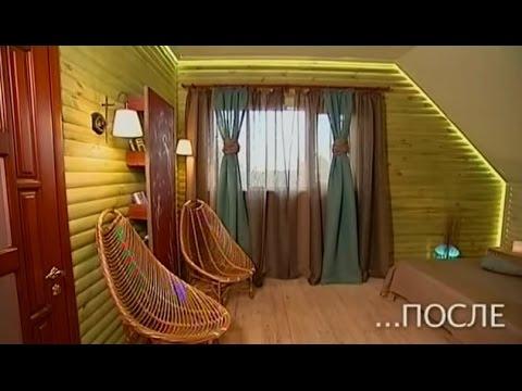 Спальня в загородном доме в эко-стиле