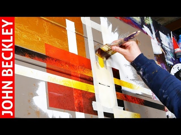 Abstract Art Painting with Masking Tape Tago