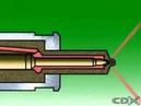 How an older diesel fuel injector works
