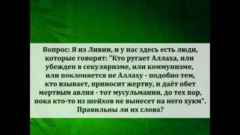О личном такфире секуляристам и могилопоклонникам Шейх Люхайдан mp4