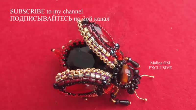 Hand Embroidery¦ Brooch Fly¦ Beetly ¦ Вышивка Брошь Муха _⁄ Жук
