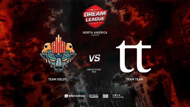 Team Xolotl vs Team Team, DreamLeague Minor Qualifiers NA,bo3, game 2 [Mila Inmate]