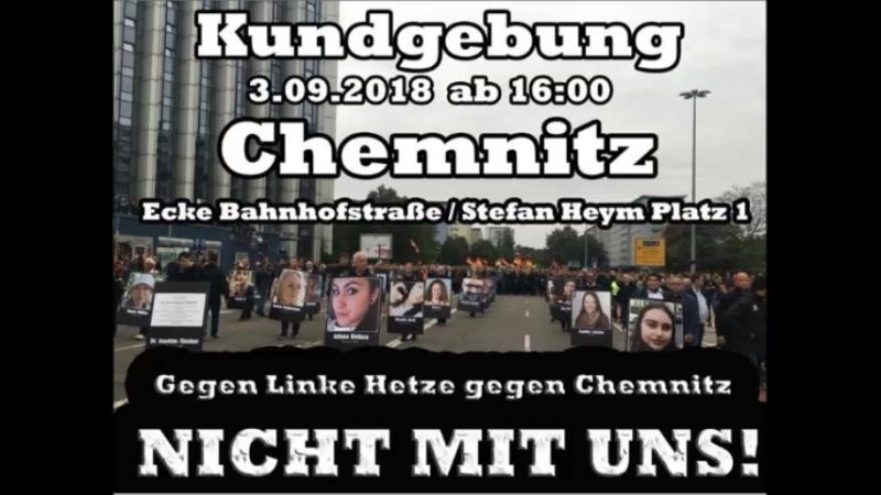 Kundgebung.0309.2018 Chemnitz Eche bahnhof Stephan Heym Platz 1.
