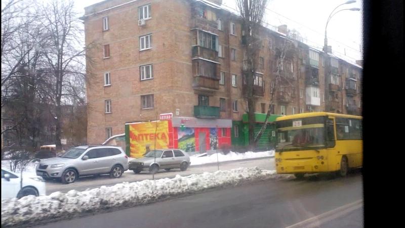 Троллейбус №5 часть 1|Trolleybus №5 part 1 Вул.Білицька - Ст.м.Площа Льва Толстого