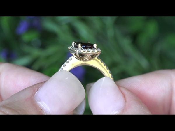 GIA Certified Top Gem Burma Ruby Diamond Cocktail Ring 2.47 Carat Solid 14k Yellow Gold
