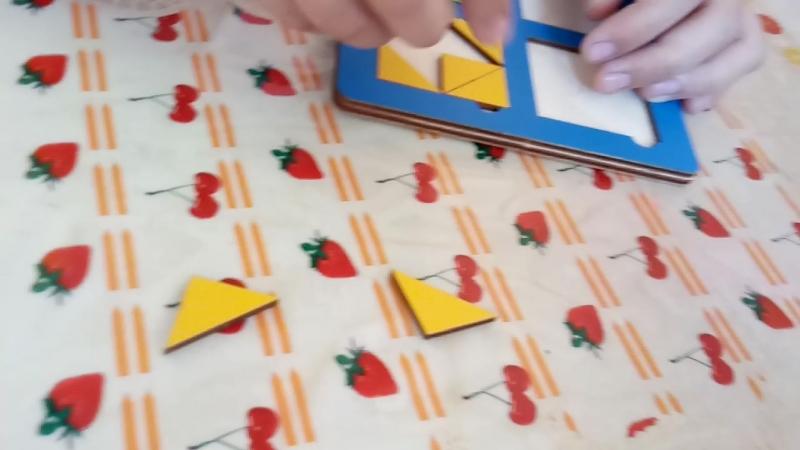 Пространственное мышление и логику, работу по образцу развиваем и тренируем с помощью плоских кубиков Никитина