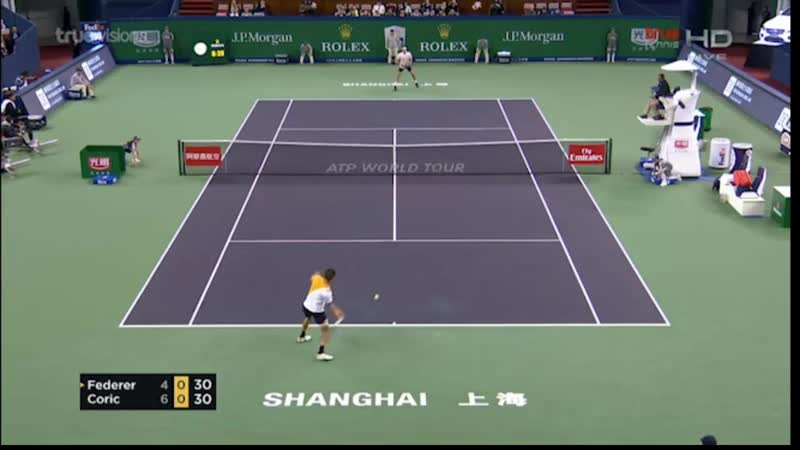 1/2 финала Роджер Федерер - Борна Чорич (Shanghhai ATP Masters 1000)