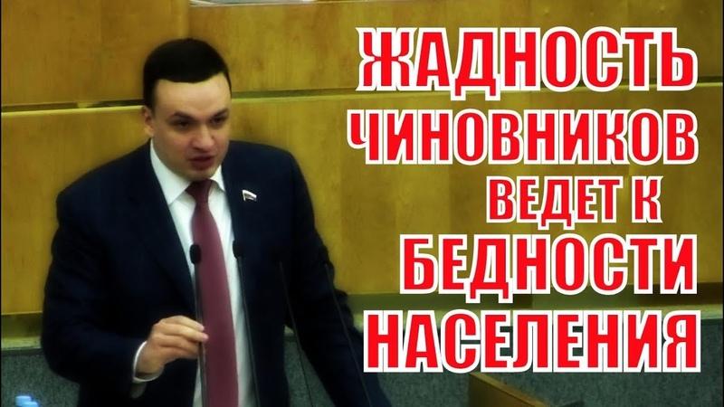Депутат ГД Ионин: Жадность чиновников ведет к бедности населения!