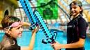 Видео Майнкрафт - Соревнование в Аквапарке! - Minecraft или реальность.