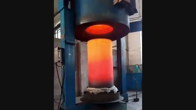 Индукционная термообработка огромной детали