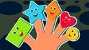 Famille doigt des formes | vidéo éducatif | comptine célèbre | Shapes Finger Family
