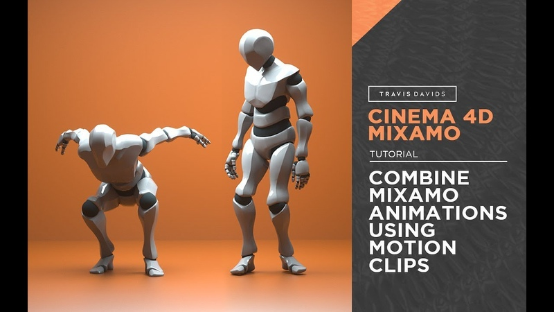 Cinema 4D Mixamo - Combine Mixamo Animations Using Motion Clips