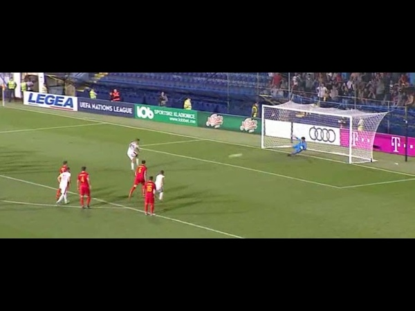 Crna Gora - Srbija 01 - Aleksandar Mitrović Gol 19 [11.10.2018]