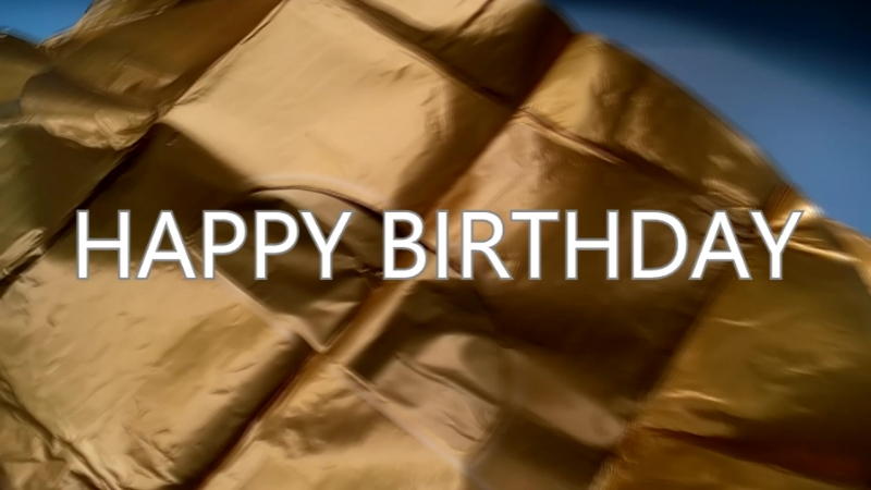 Воздушные шары. Надпись Happy Birthday