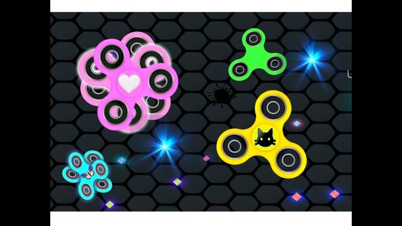 РАСКРУТИ свой СПИНЕР 2 игра как Слизарио развлекательное видео детям про fidget spinner games