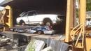 Car crusher crushing cars 46 Toyota celica
