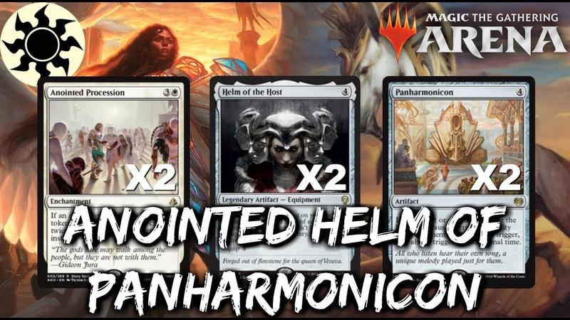 Anointed Helm of Panharmonicon [MTG Arena] | Mono-White Panharmonicon Tokens Deck in M19 Standard