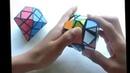 11 years old Chinese girl,solve diamond pattern Rubik's Magic Cube
