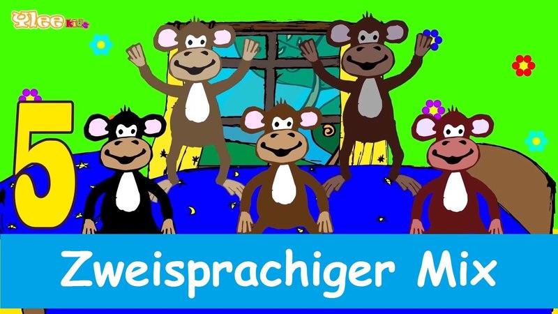 Fünf kleine Affen - Cinque scimmiette Zweisprachige Kinderlied Deutsch - Italienisch