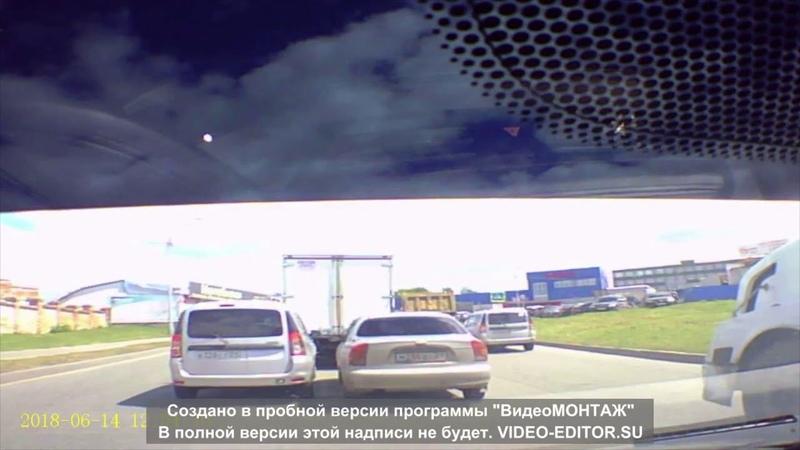 Наглость и упрямство на чебоксарских дорогах. ДТП на Базовом проезде