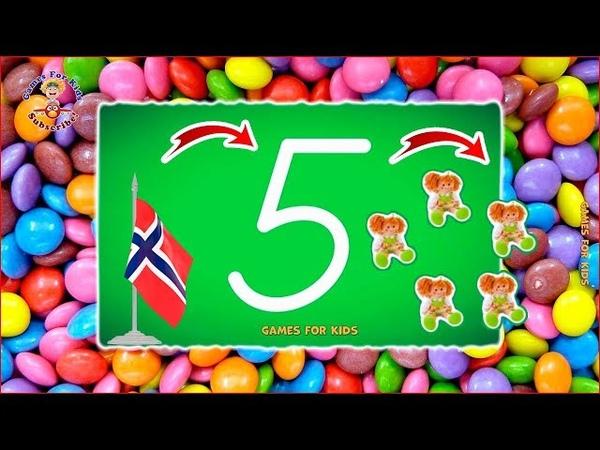 LetterSchool Norwegian D'Nealian Numbers 1 to 10 Spill og lær å skrive alle og tallene 1 – 10