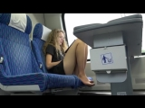 WOMENS GUSSET OF NYLON TIGHTS IN THE TRAIN  SHORT DRESS AND PUBLIC LEGS    НОЖКИ
